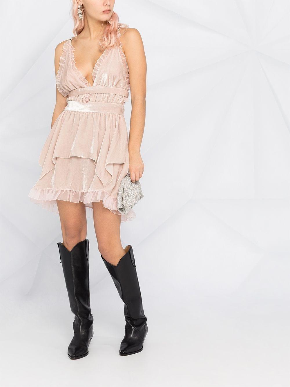 PHILOSOPHY DI LORENZO SERAFINI Ruffled Lightweight Flared Dress