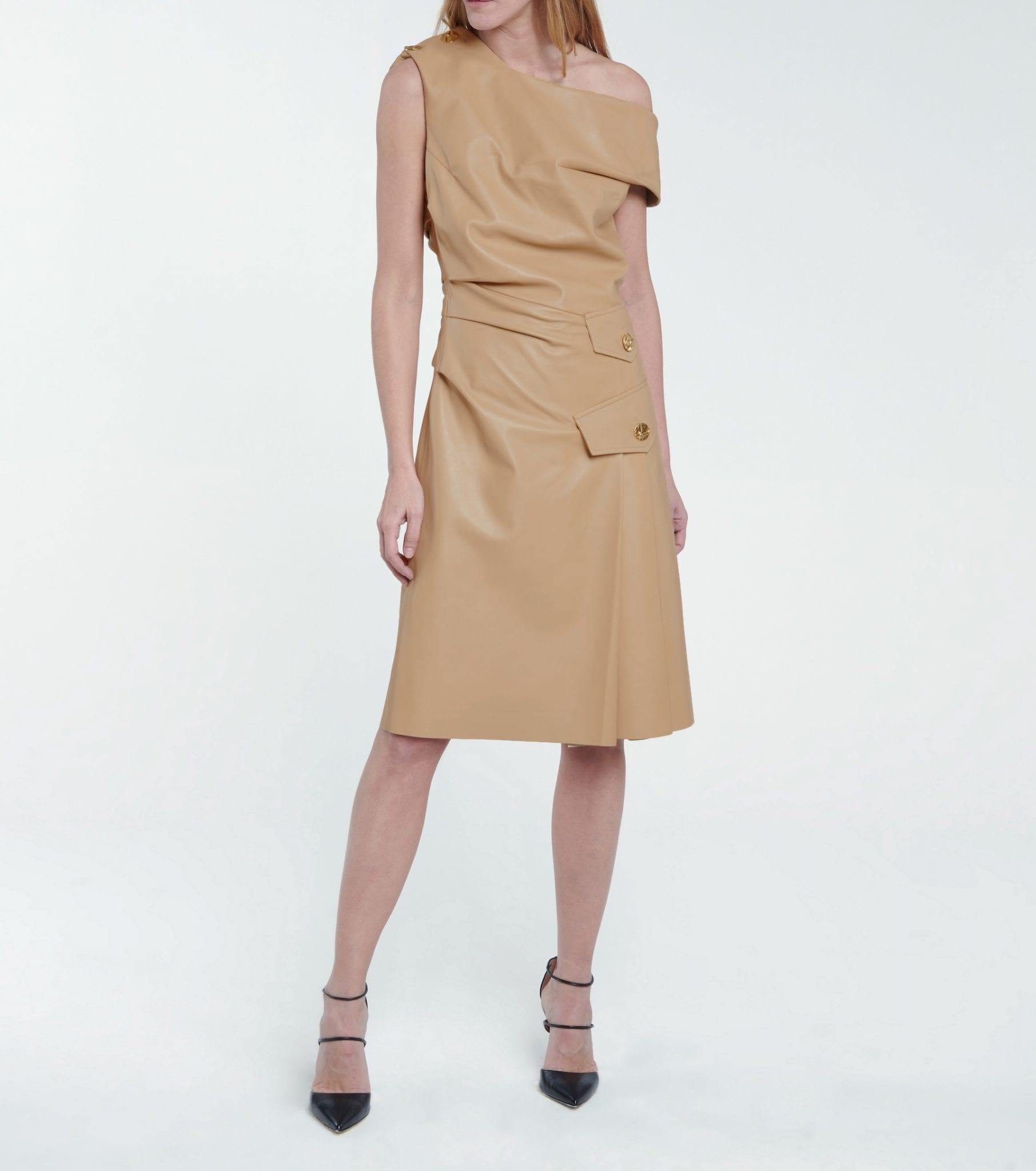 PROENZA SCHOULER One-shoulder Leather Mini Dress
