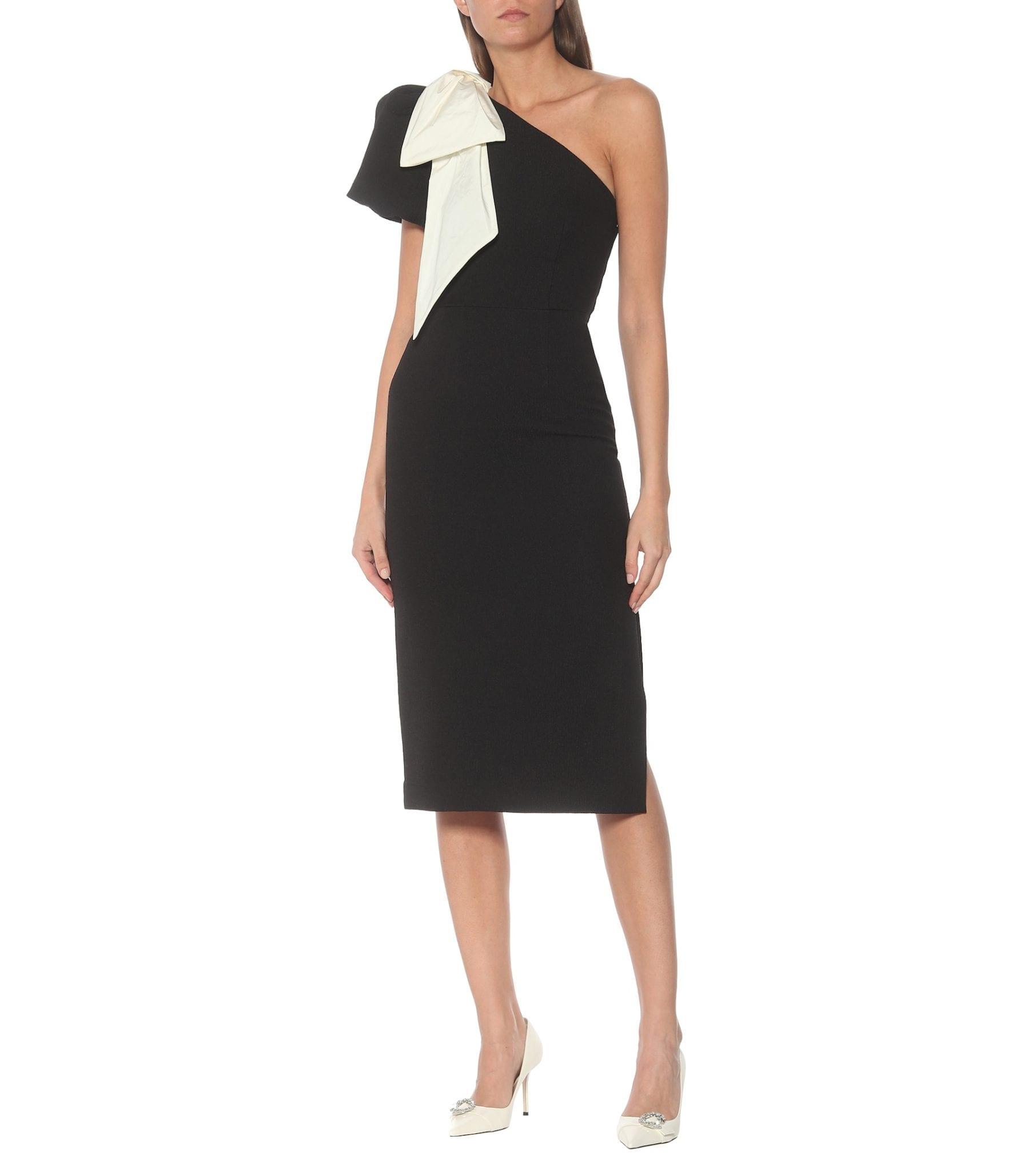REBECCA VALLANCE Lavanda Stretch-crêpe Midi Dress