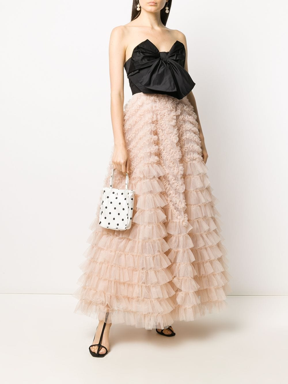 REDVALENTINO Bow-detail Tiered Tulle Gown