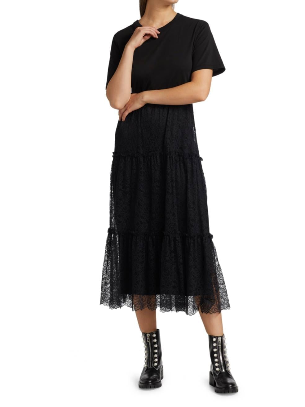REDVALENTINO Jersey Tulle Dress