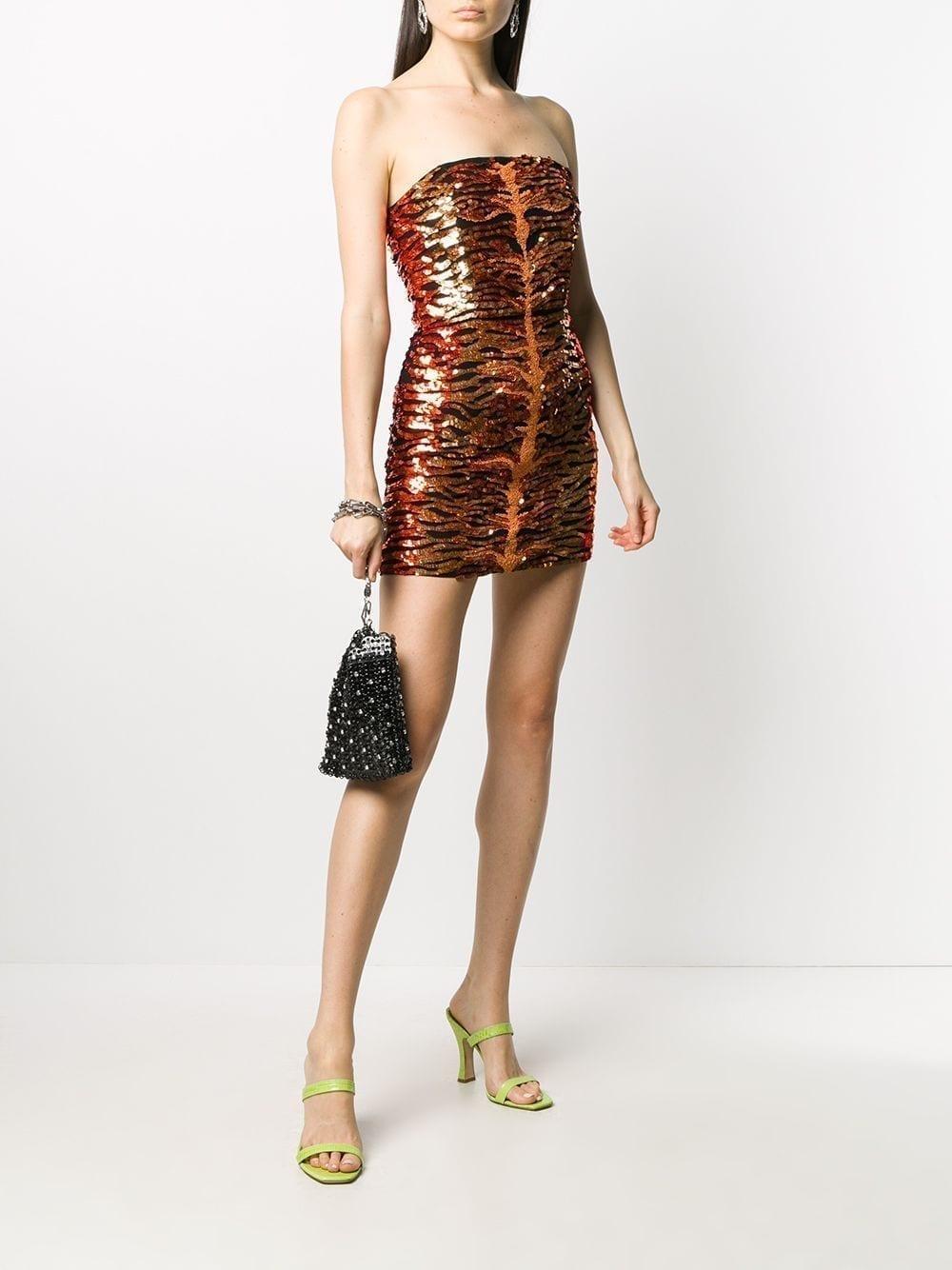 RETROFETE Aurora Sequinned Mini Dress