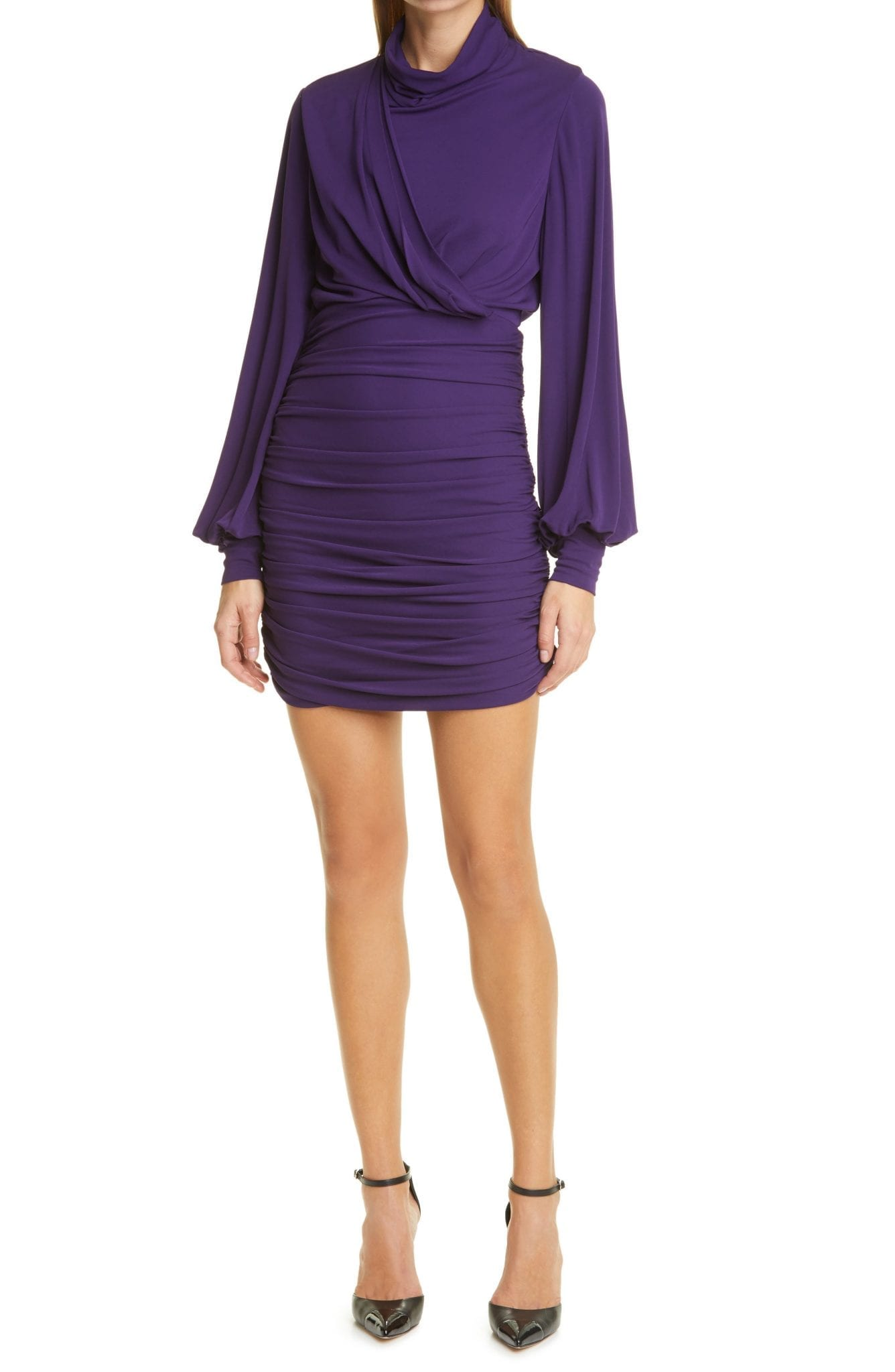 RONNY KOBO Harper Balloon Sleeve Mini Dress