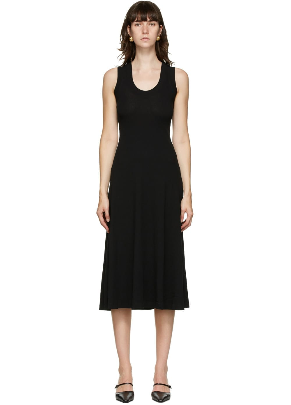 ROSETTA GETTY Black U-Neck Tank Dress