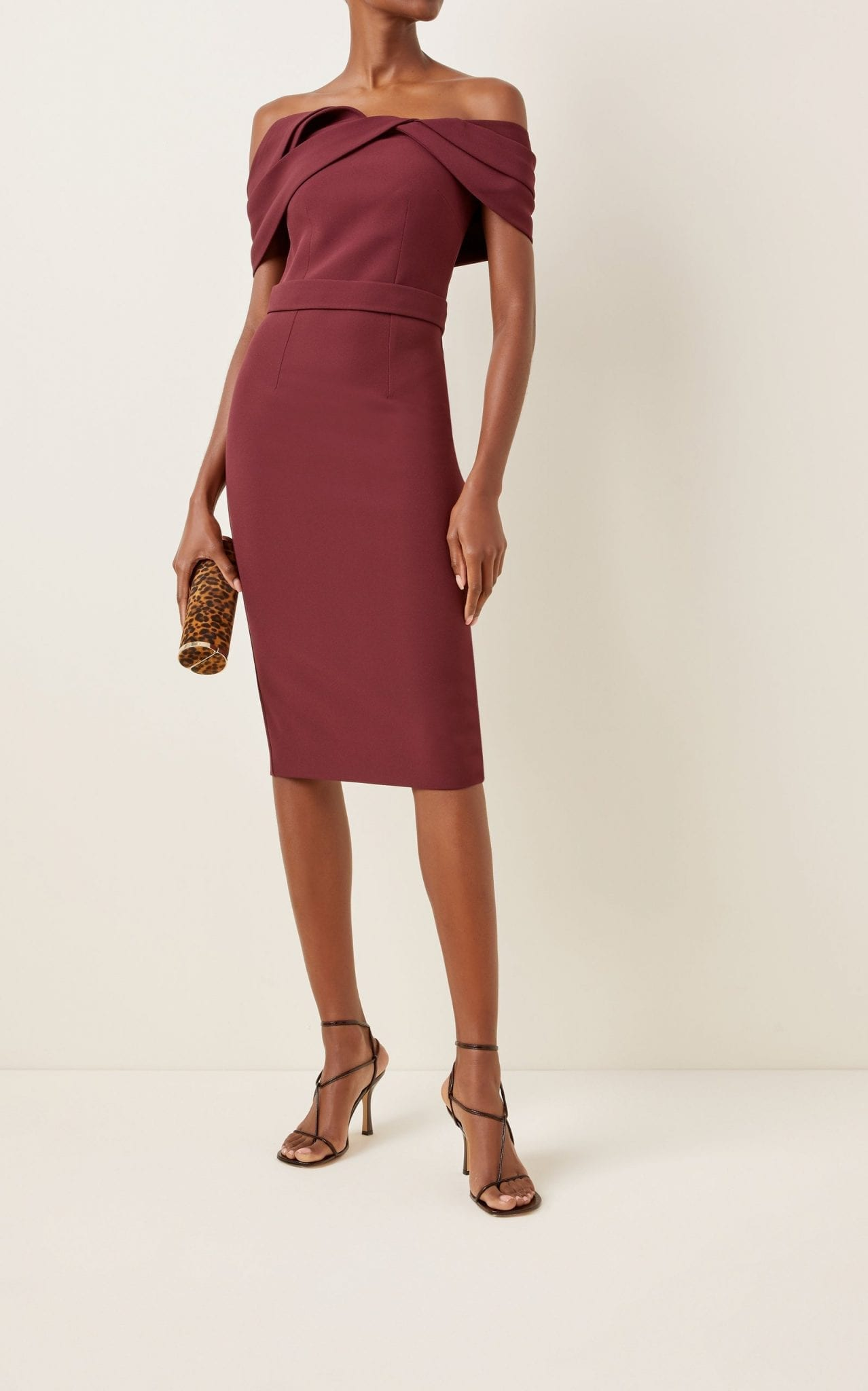 SAFIYAA Exclusive Rosa Heavy-Crepe Midi Dress