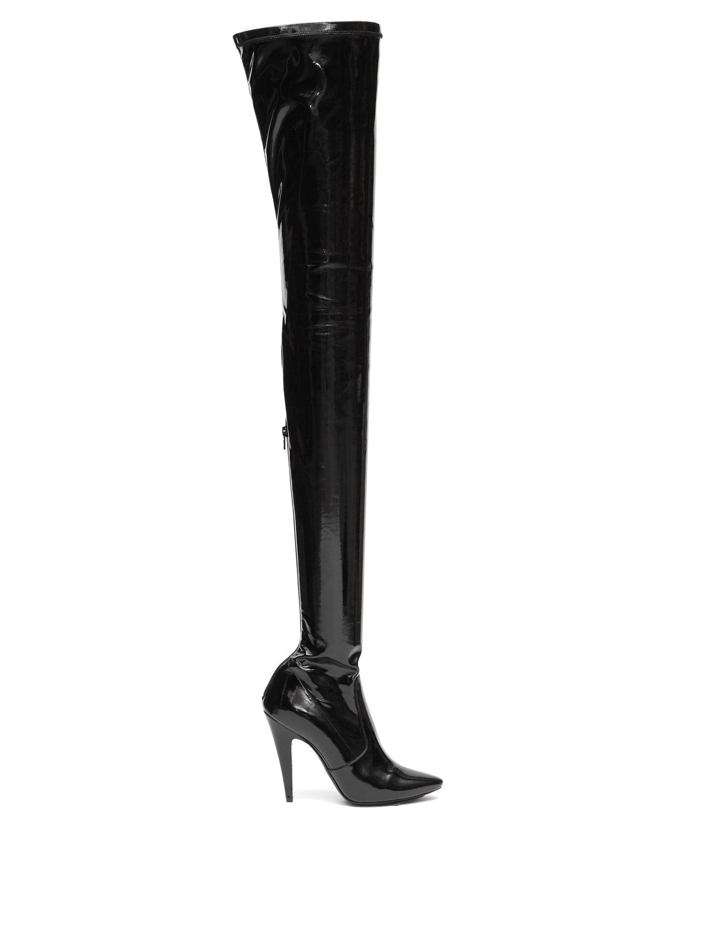 SAINT LAURENT Aylah 110 Over-the-knee Vinyl Boots