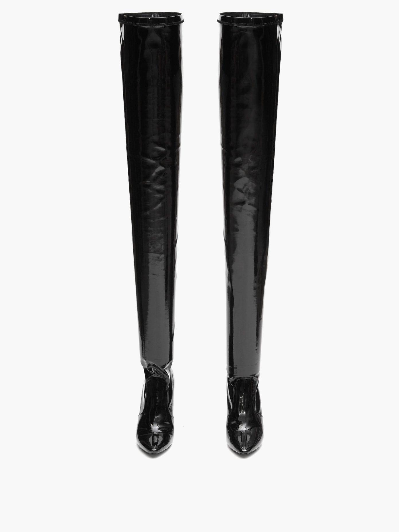 SAINT LAURENT Aylah 110 Over-the-knee Vinyl Boots