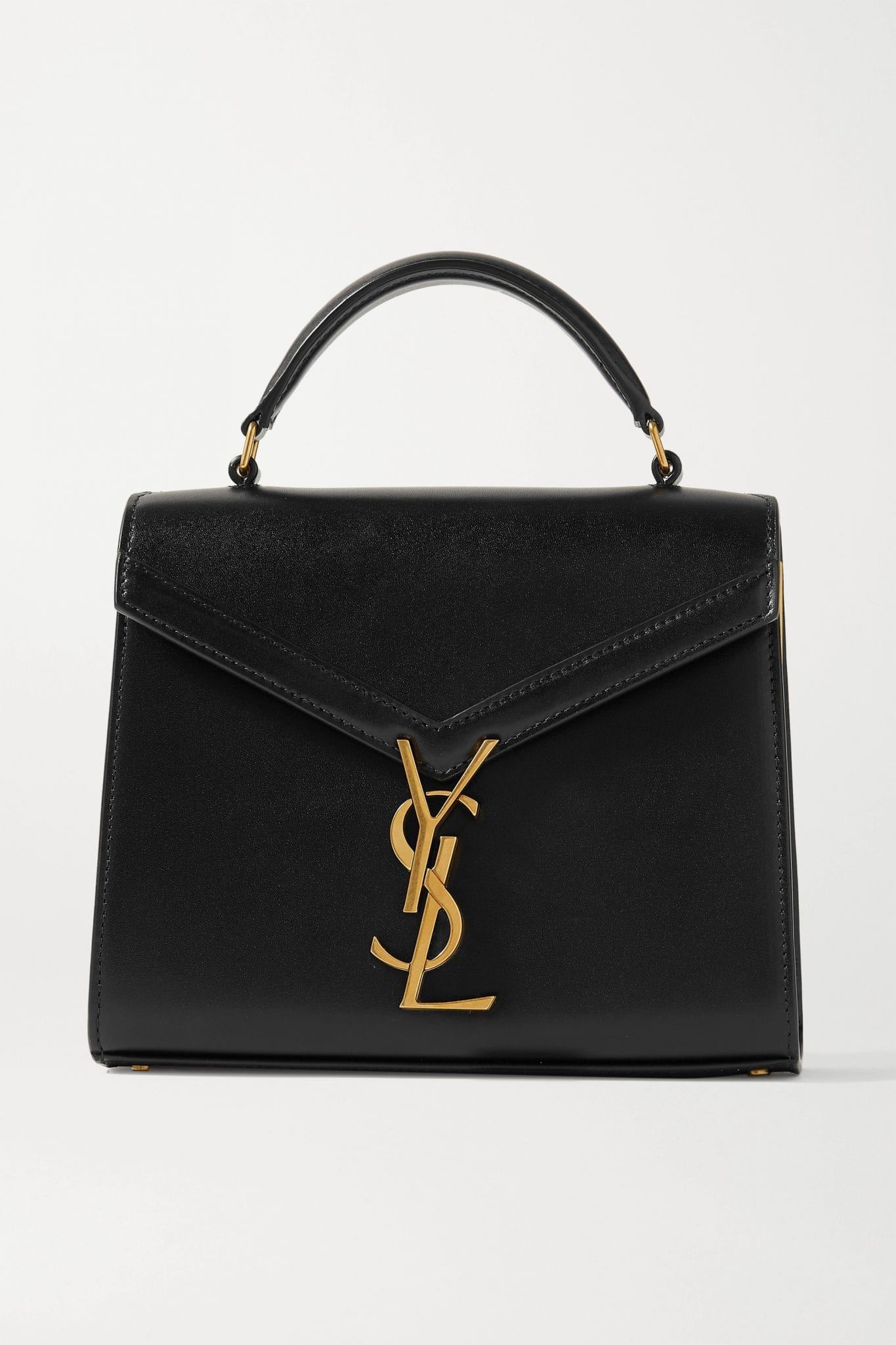 SAINT LAURENT Cassandra Mini Leather Tote Bag