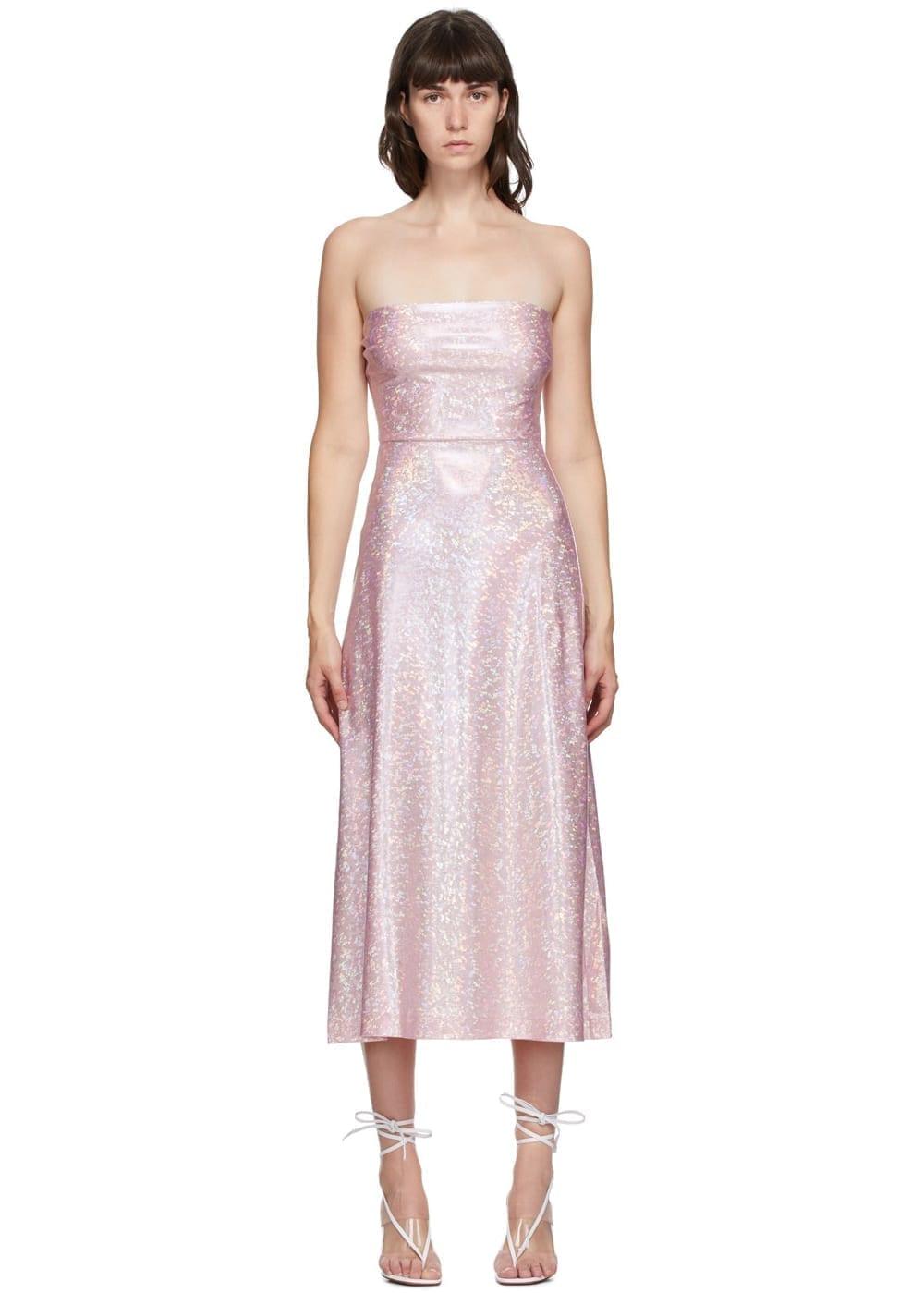 SAKS POTTS Pink Shimmer Jepska Dress