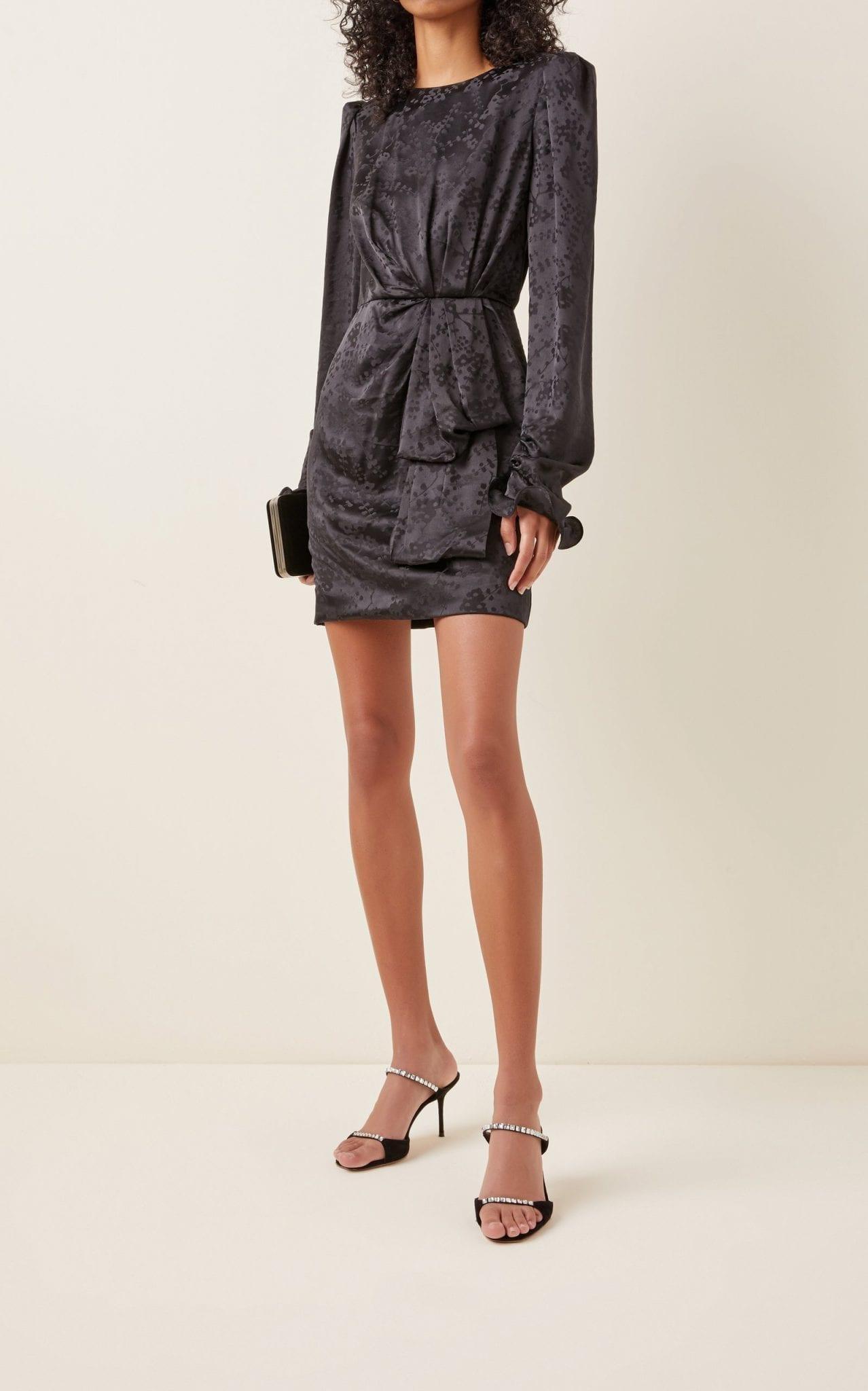 SALONI Debbie Floral Silk Jacquard Mini Dress