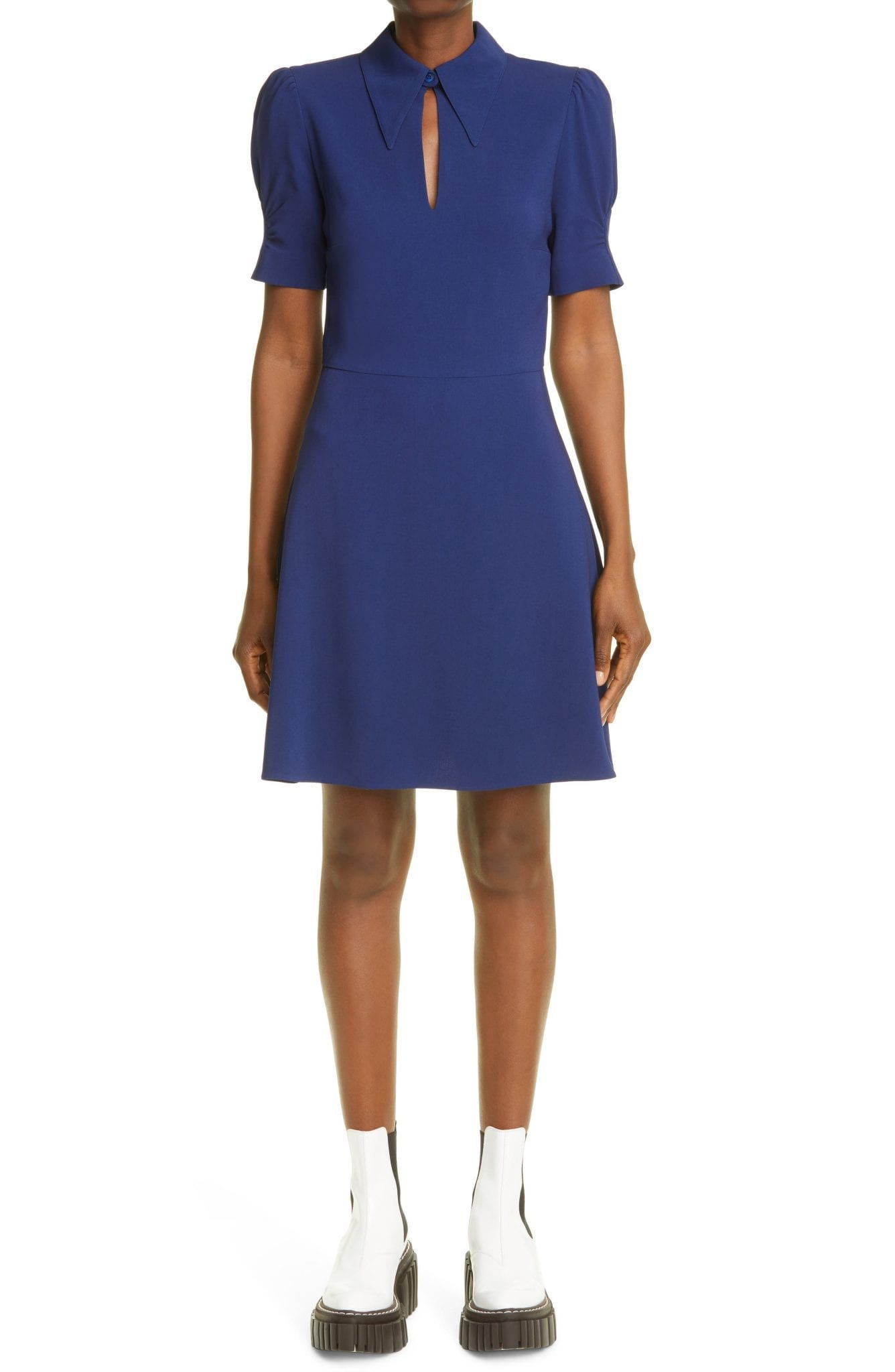 STELLA MCCARTNEY Blair Puff Sleeve Stretch Cady Dress