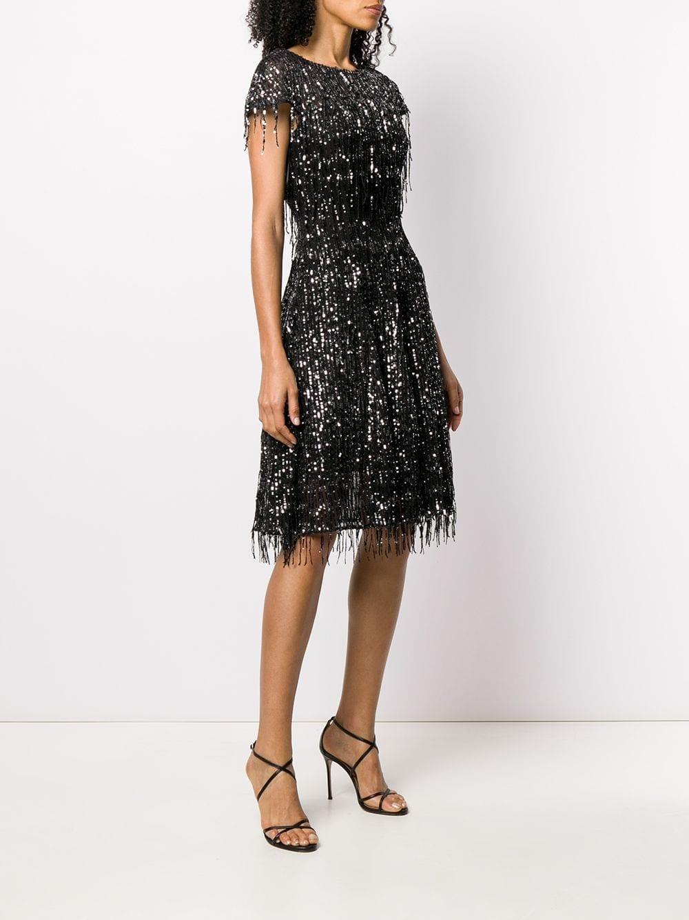 TALBOT RUNHOF Froufrou Sequin-embellished Dress