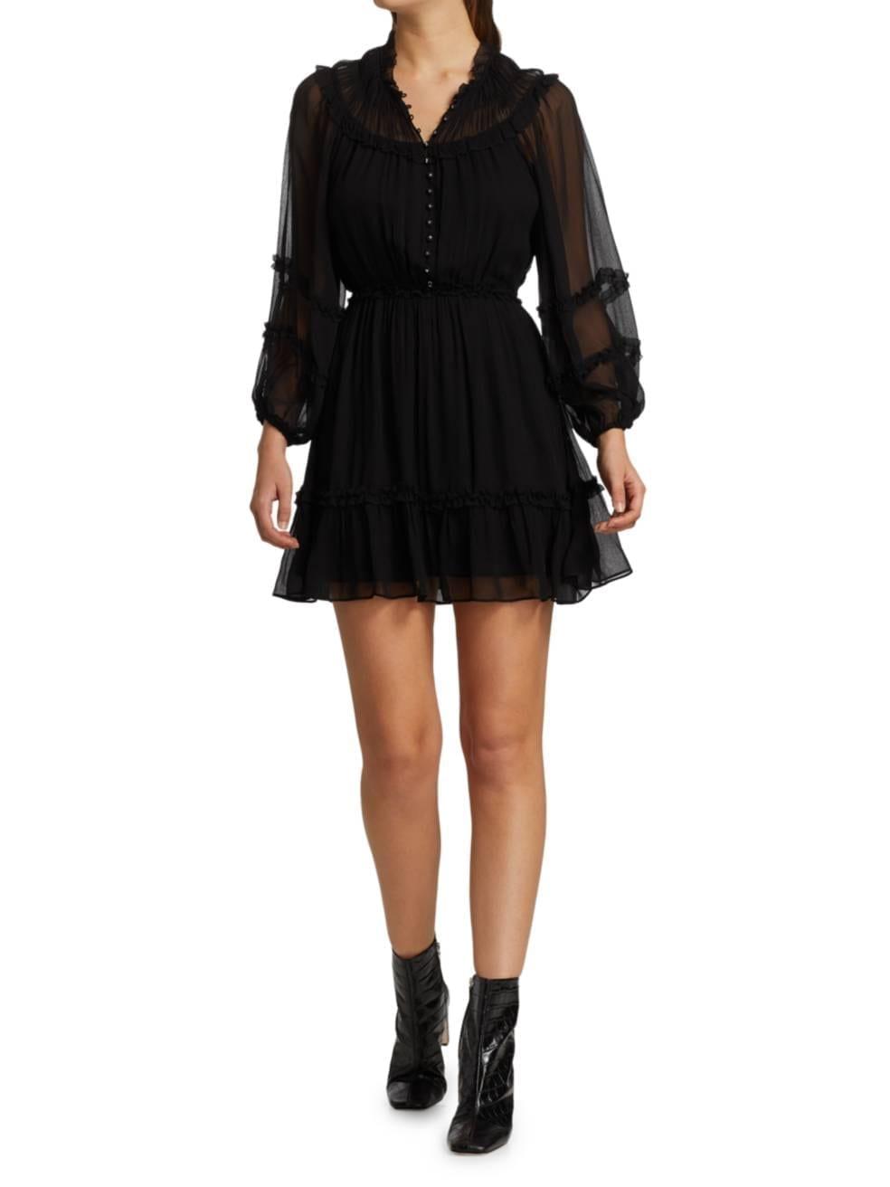 THE KOOPLES Georgette Sheer Mini Dress