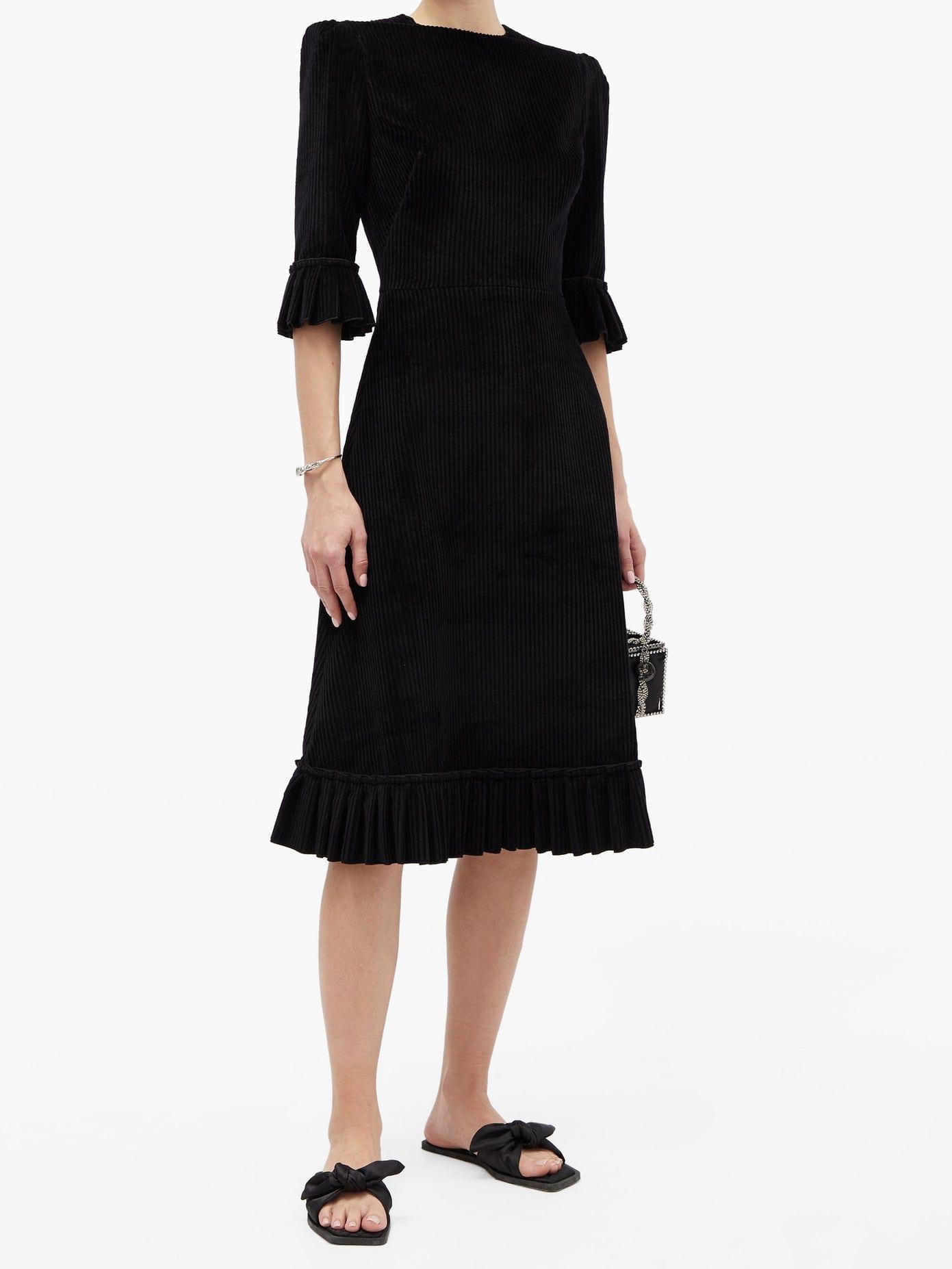 THE VAMPIRE'S WIFE The Festival Jumbo-cord Cotton Midi Dress