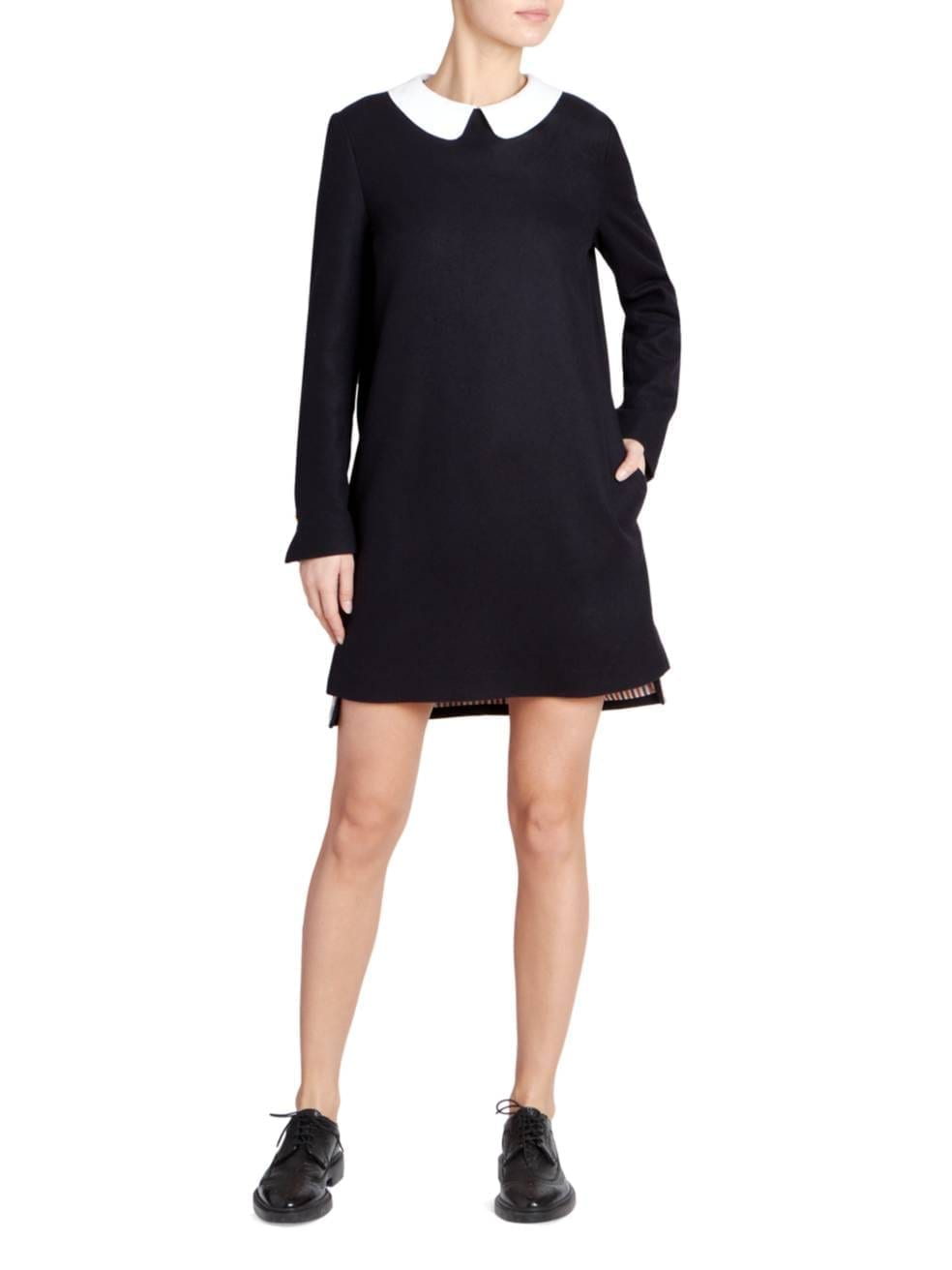 THOM BROWNE Collared Cashmere Shift Dress