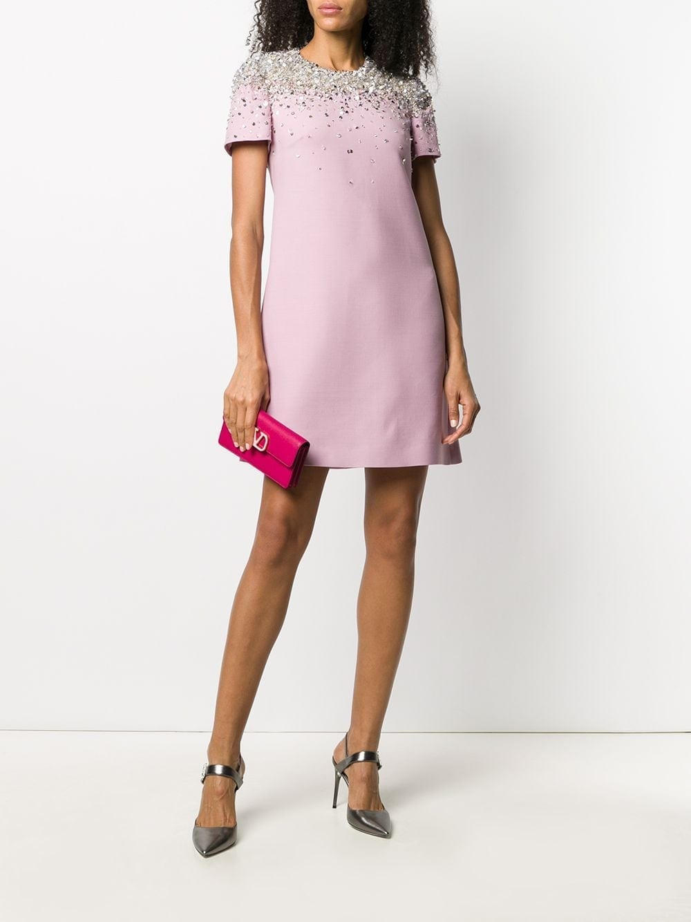 VALENTINO Sequin-embellished Mini Dress