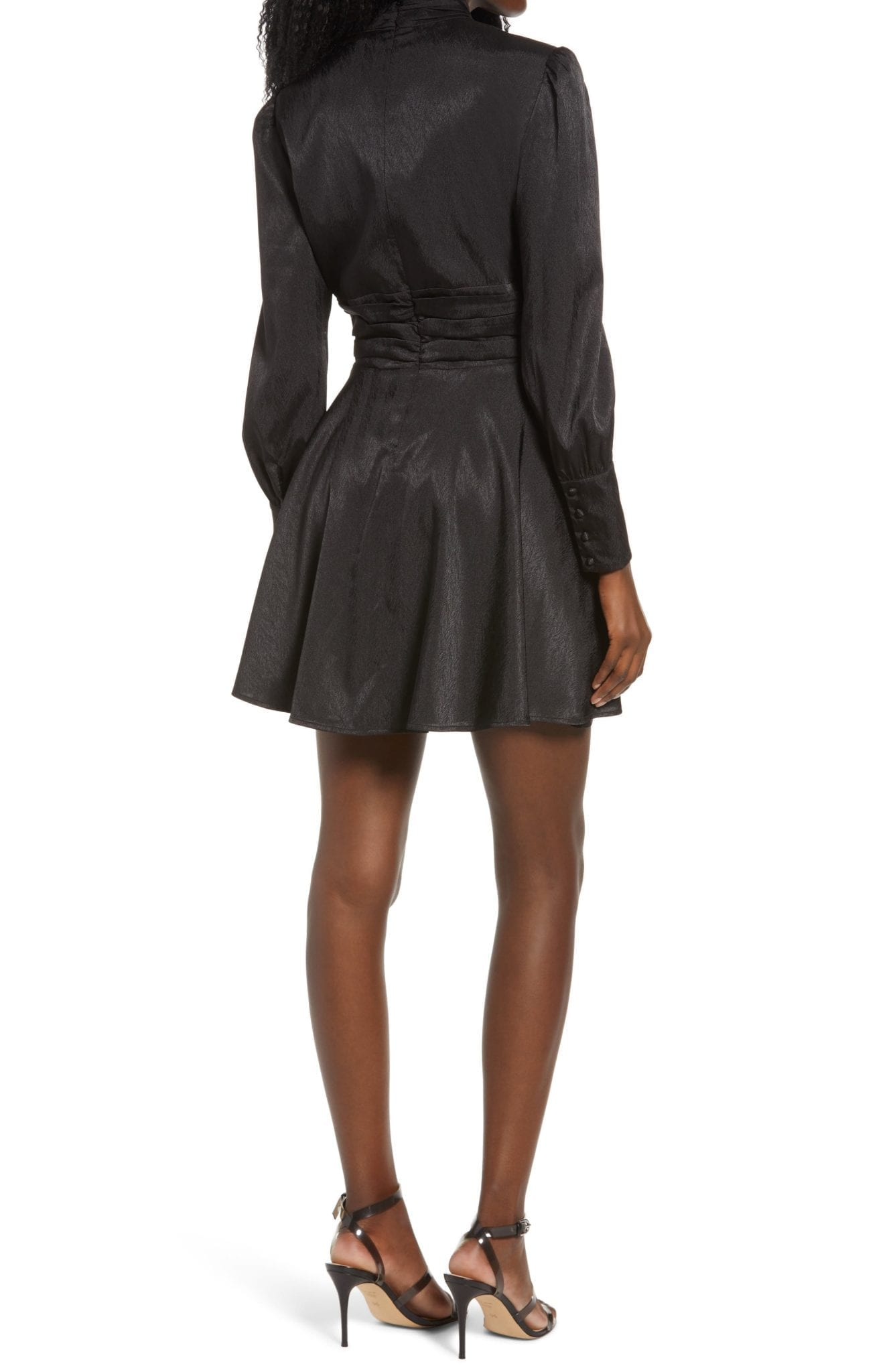 WAYF Holly Long Sleeve Mini Dress
