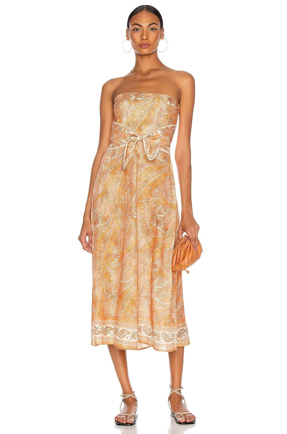 ZIMMERMANN Brighton Tie Waist Midi Dress