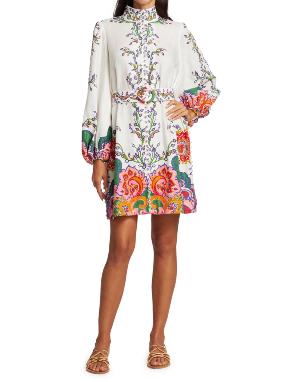 ZIMMERMANN Lovestruck Buttoned Tunic Dress