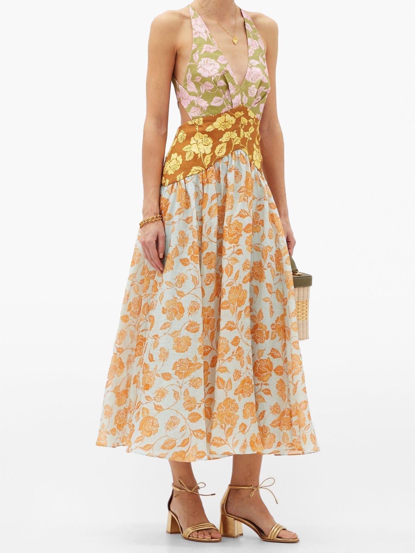 ZIMMERMANN Lovestruck Cutout-back Floral-print Midi Dress