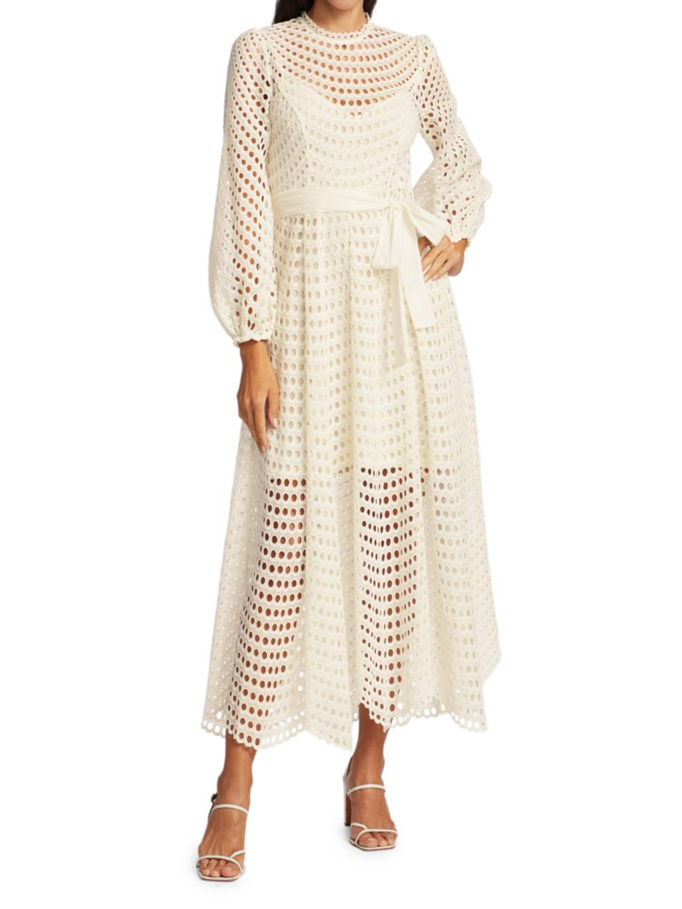 ZIMMERMANN Poppy Eyelet Midi Dress