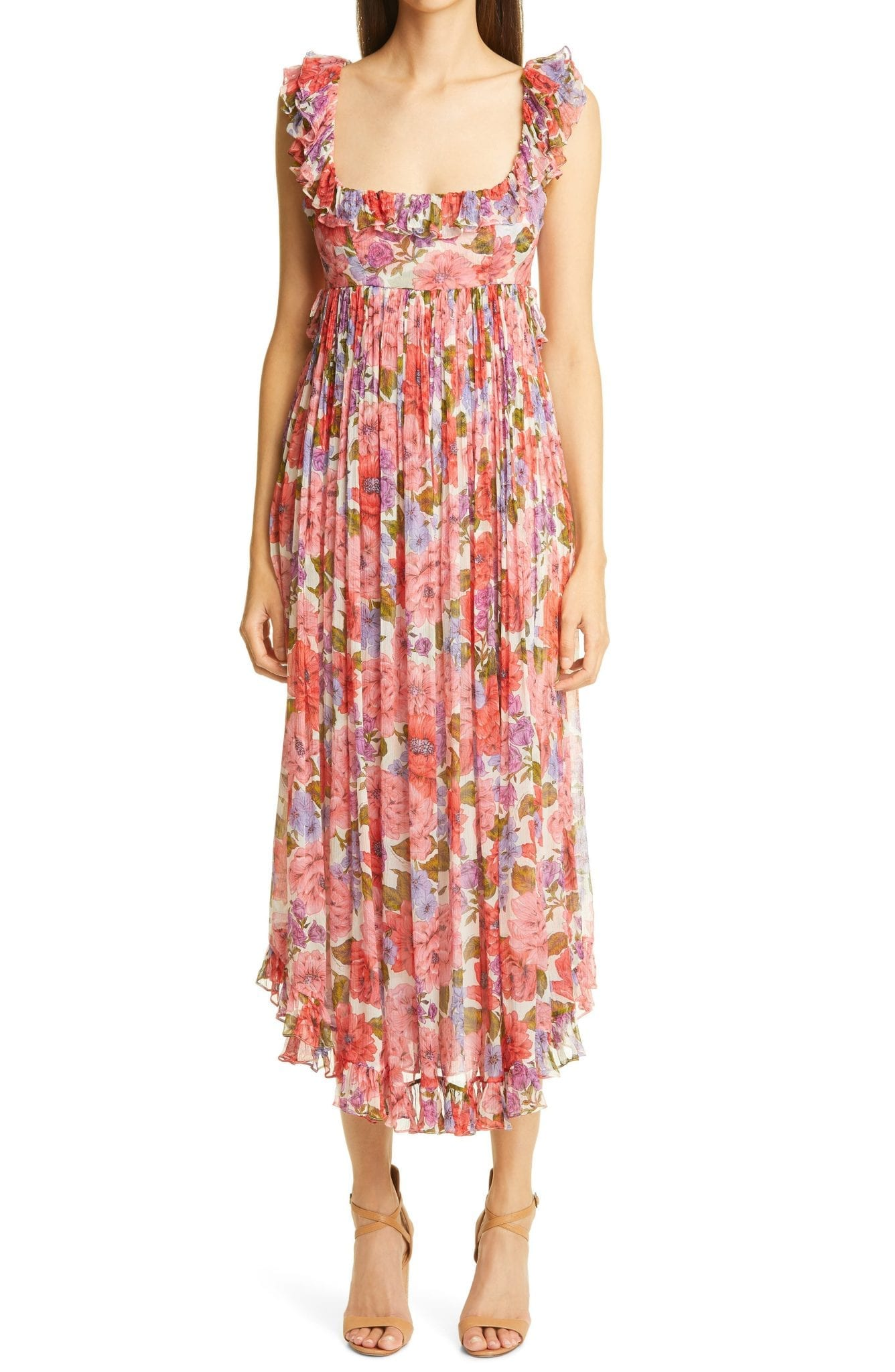 ZIMMERMANN Poppy Floral Silk Dress