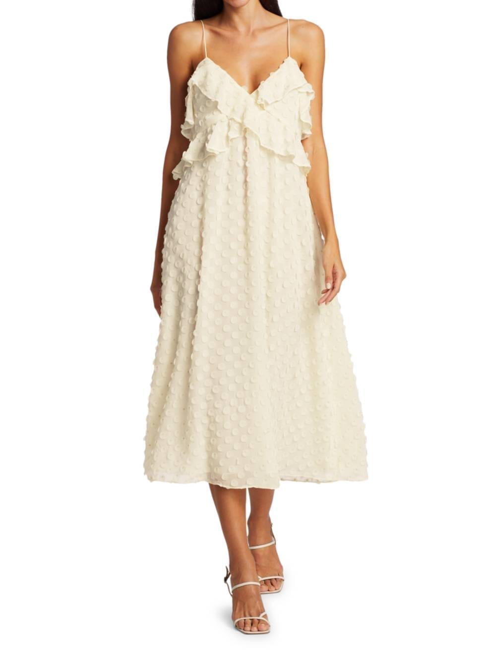 ZIMMERMANN Ruffle Bodice Slip Dress