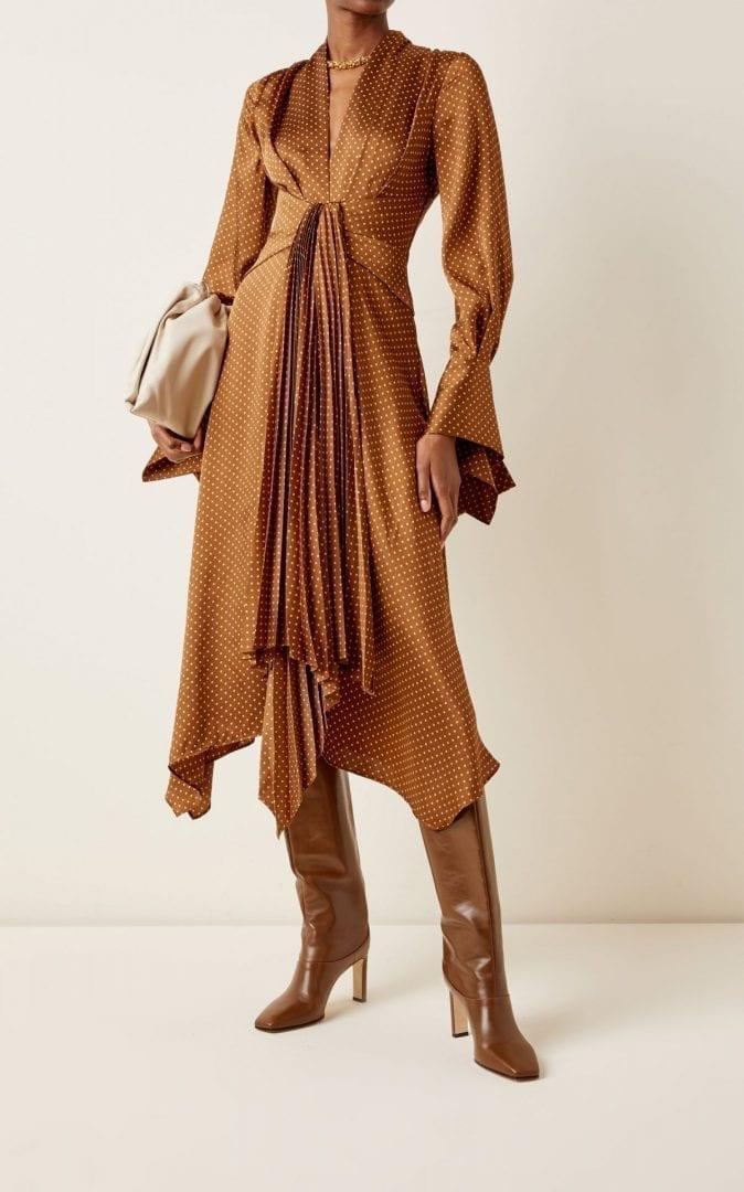 ACLER Hernshaw Printed Satin Midi Dress