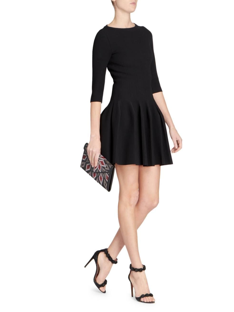 ALAÏA Editions Piqué Knit Fit-&-Flare Dress