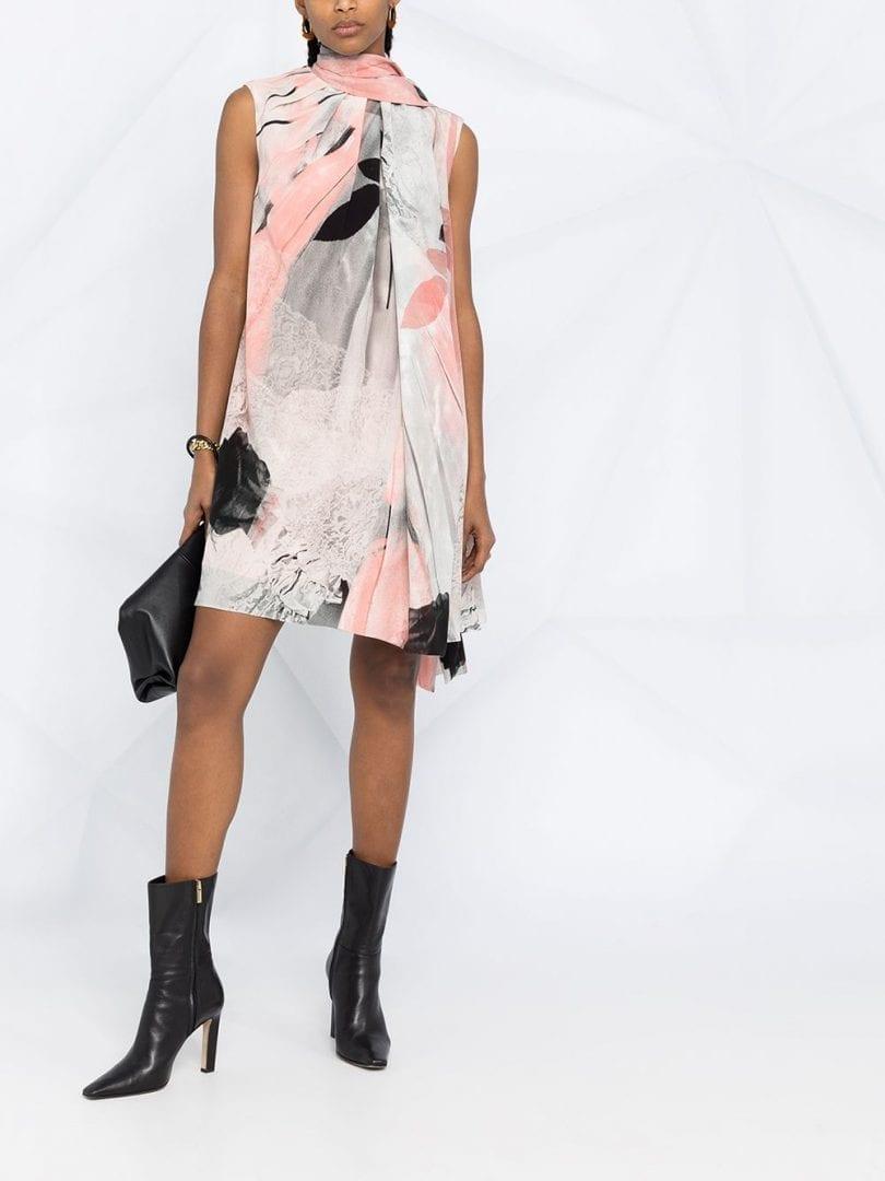 ALEXANDER MCQUEEN Trompe-l'œil Printed Dress