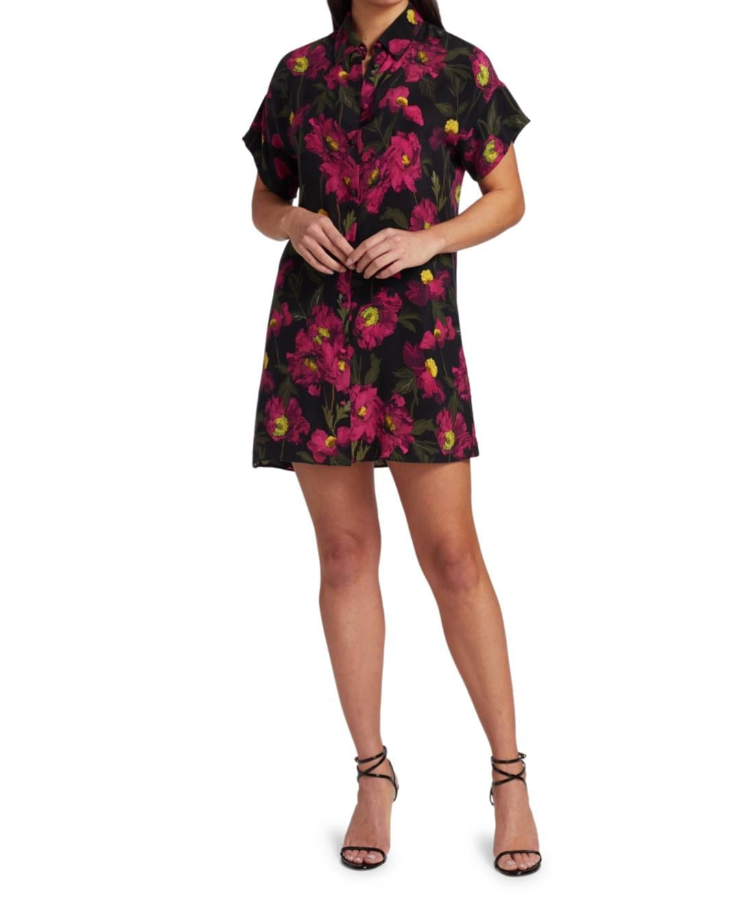 ALICE + OLIVIA Lucette Button-Down Shirt Dress