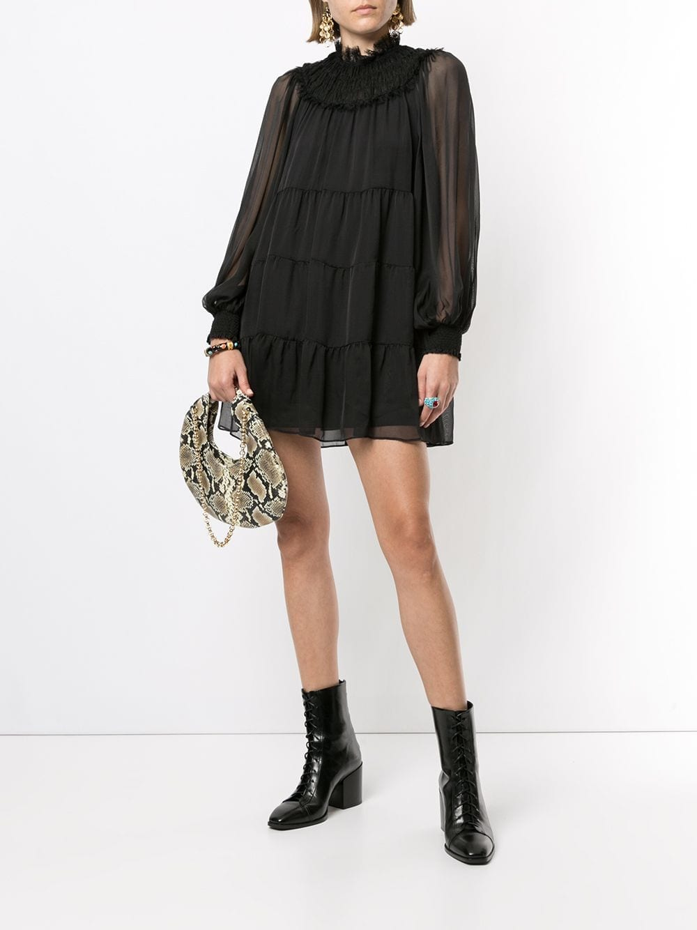ALICE+OLIVIA Tiered Mini Dress