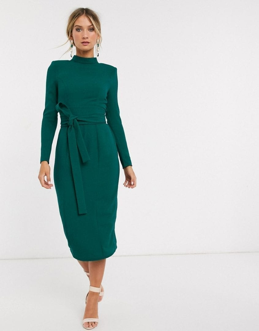 ASOS DESIGN Long Sleeve Midi Dress