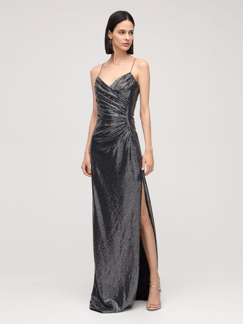 AZZARO Metallic Long Dress