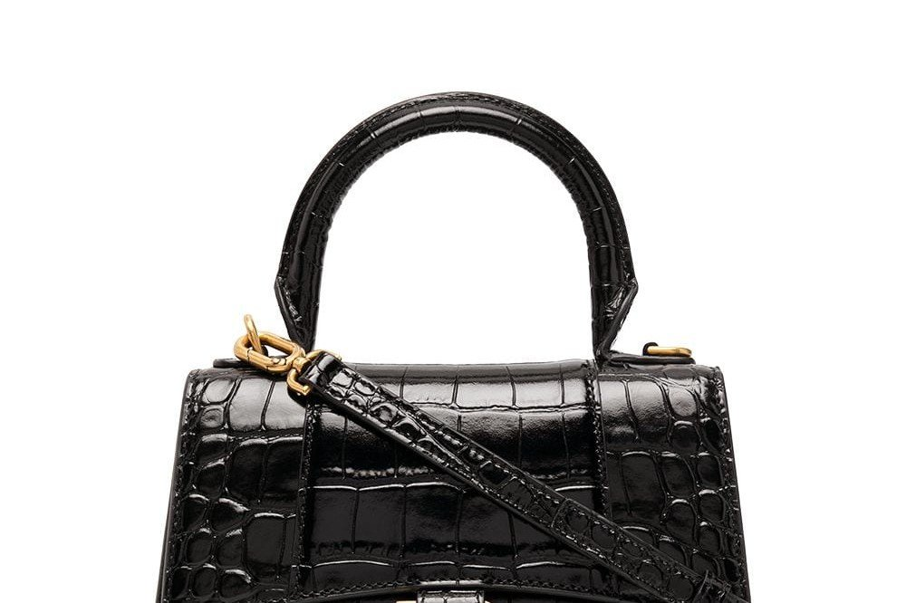 BALENCIAGA Crocodile Effect Tote Bag