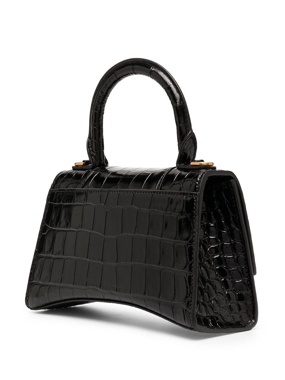 BALENCIAGA Crocodile Effect Tote Bag