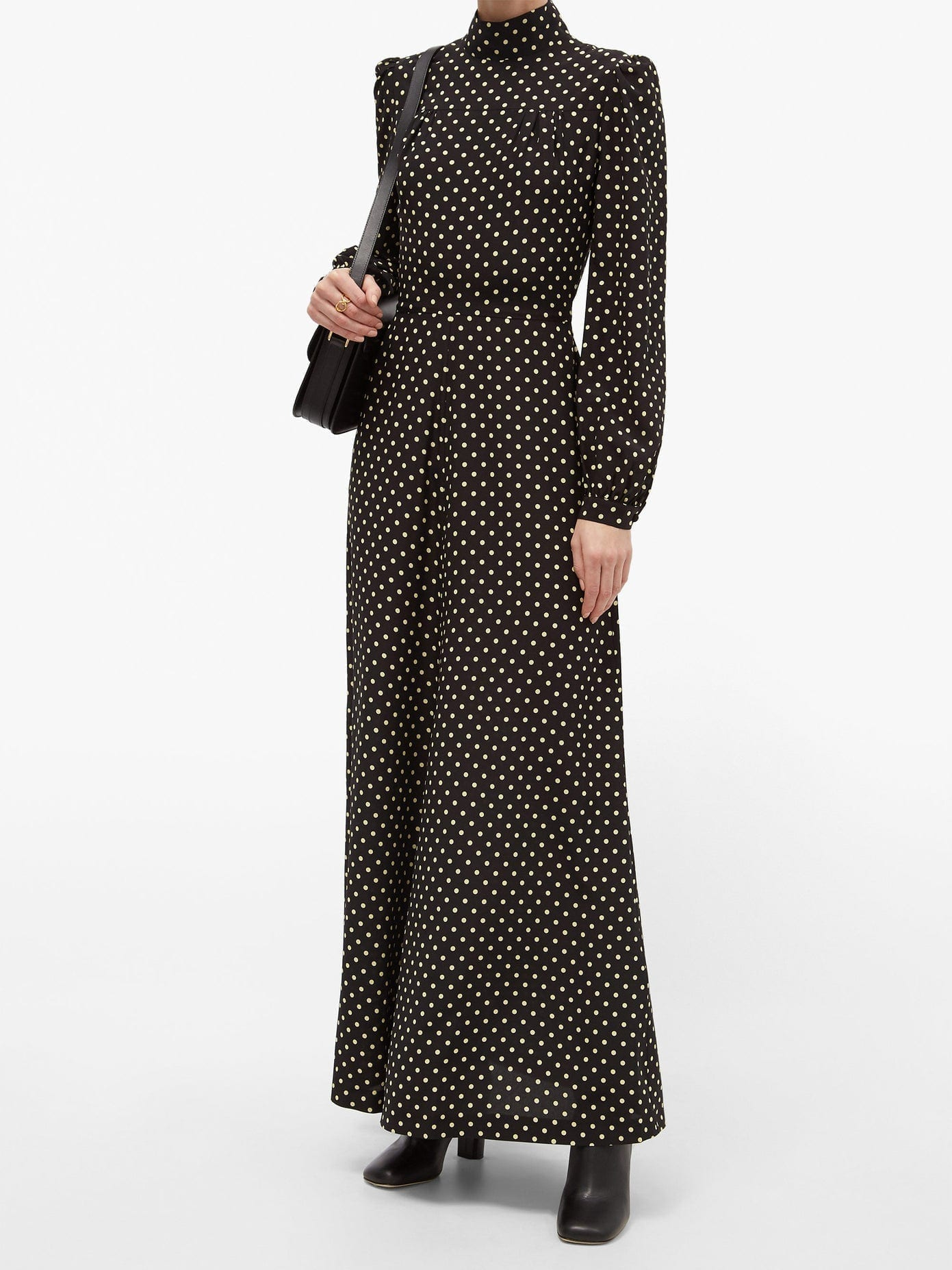 BELLA FREUD Angelica Polka-dot Silk Midi Dress