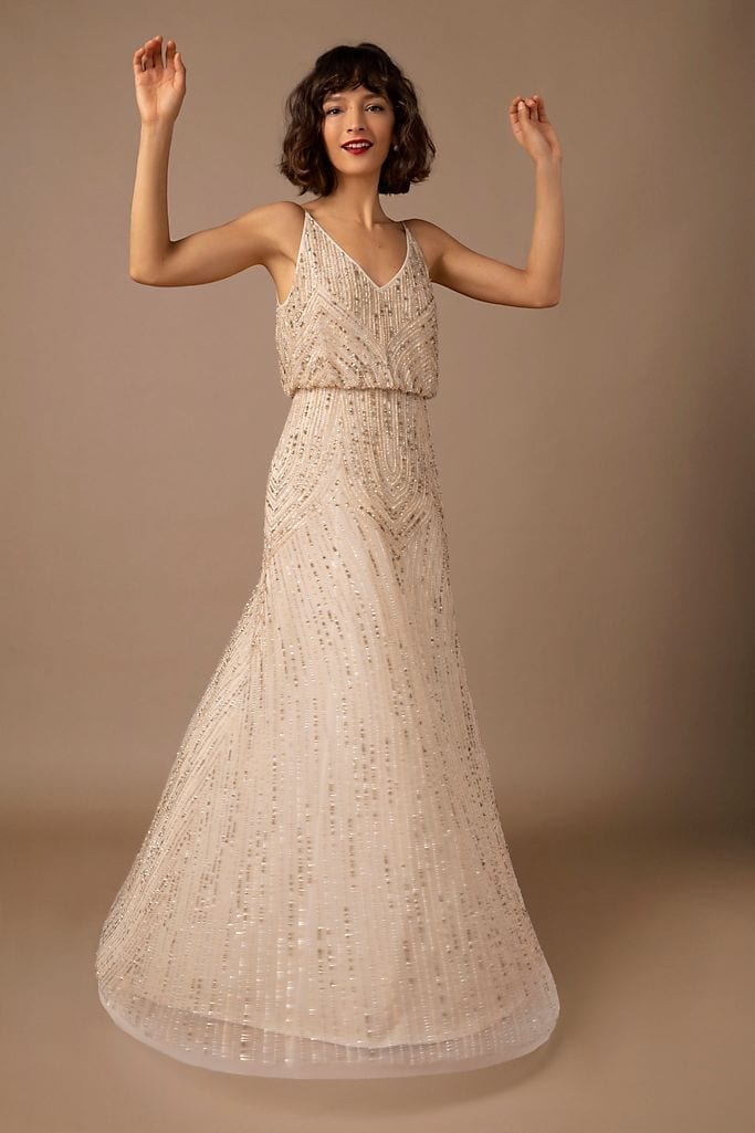 BHLDN Fidelia Beaded Maxi Dress