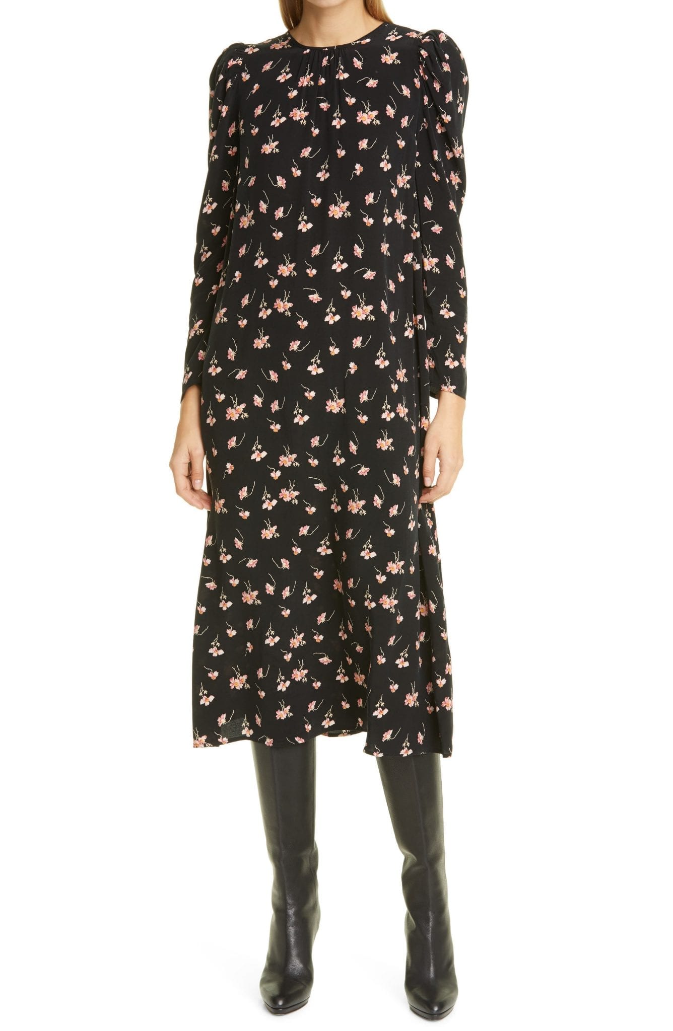 BYTIMO Everyday Floral Long Sleeve Shift Dress