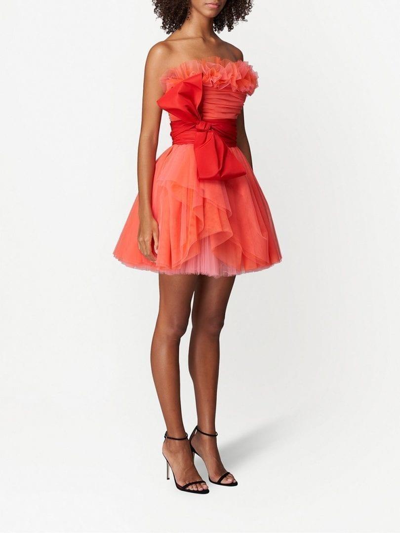 CAROLINA HERRERA Tulle-overlay Mini Dress
