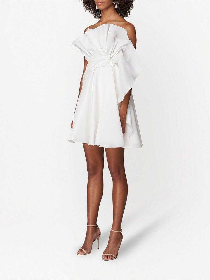CAROLINA HERRERA Twist-detail Silk Mini Dress