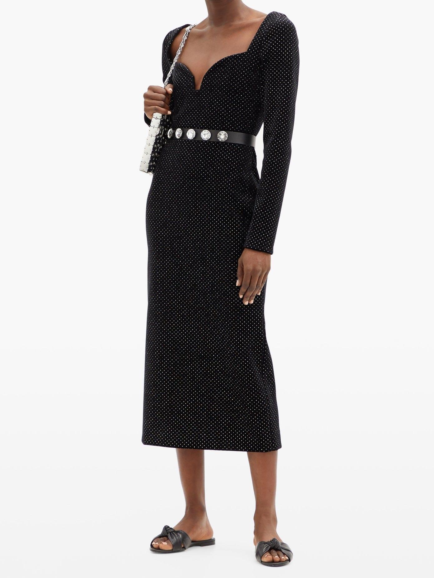 CHRISTOPHER KANE Sweetheart-neckline Glittered Velvet Dress