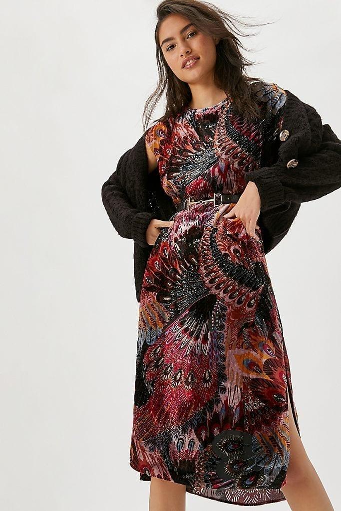 DANIEL RAINN Agostina Velvet Burnout Tunic Dress