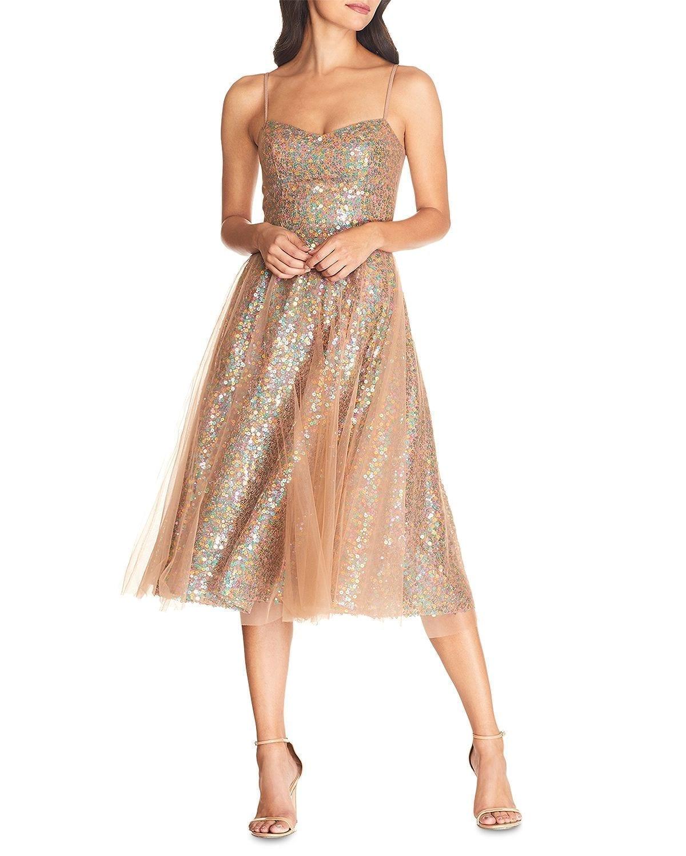 DRESS THE POPULATION Ensley Sequined Dress