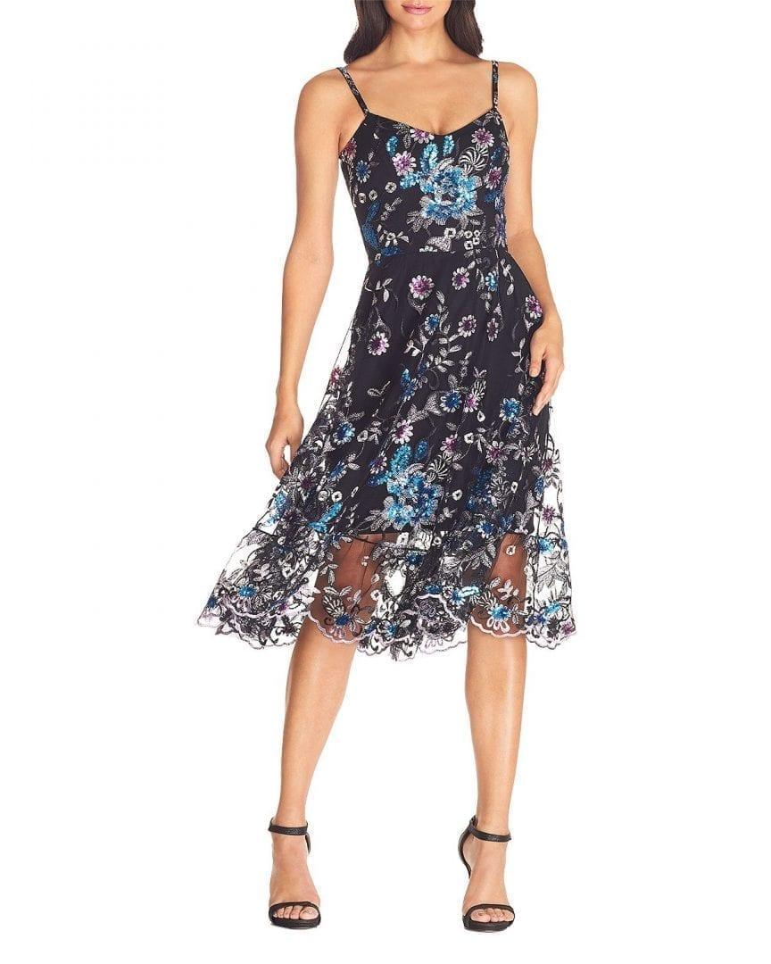DRESS THE POPULATION Uma Floral Dress