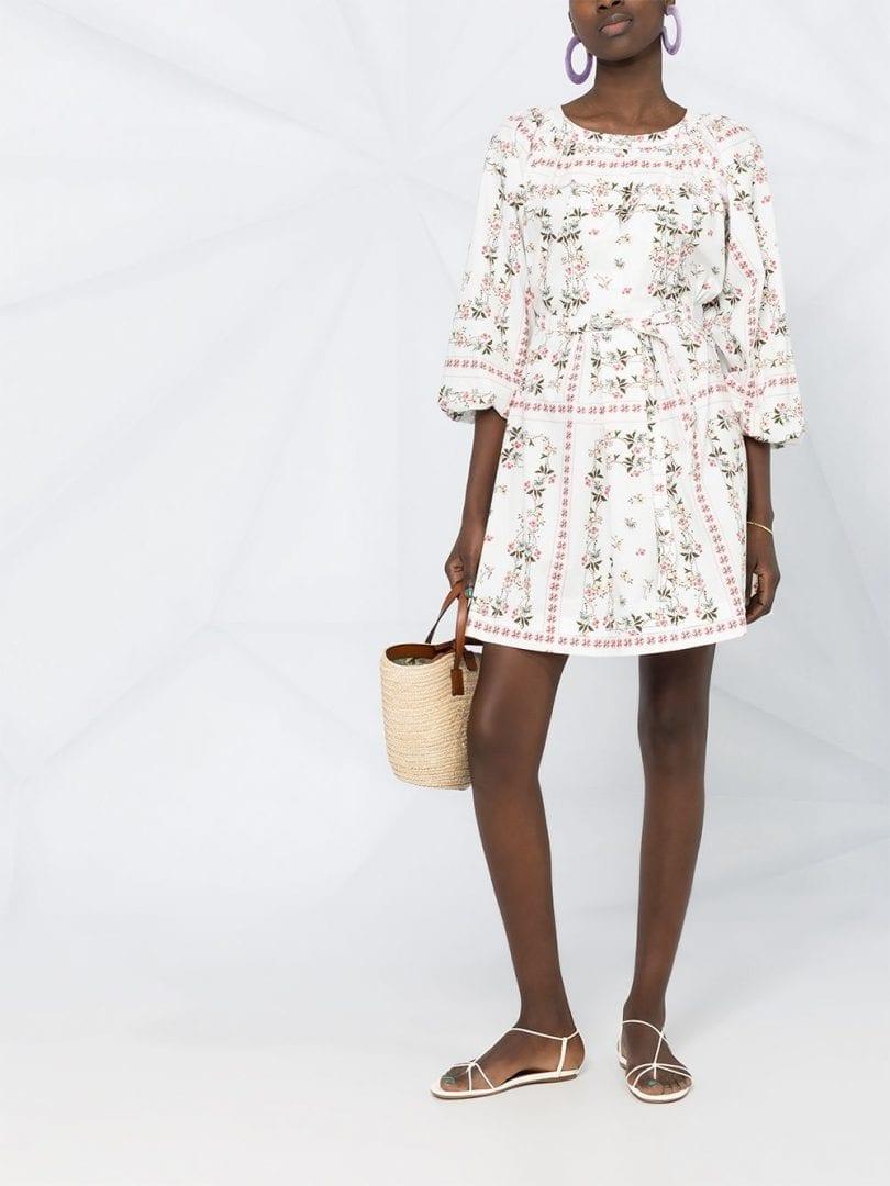 ETRO Floral Print Flared Dress