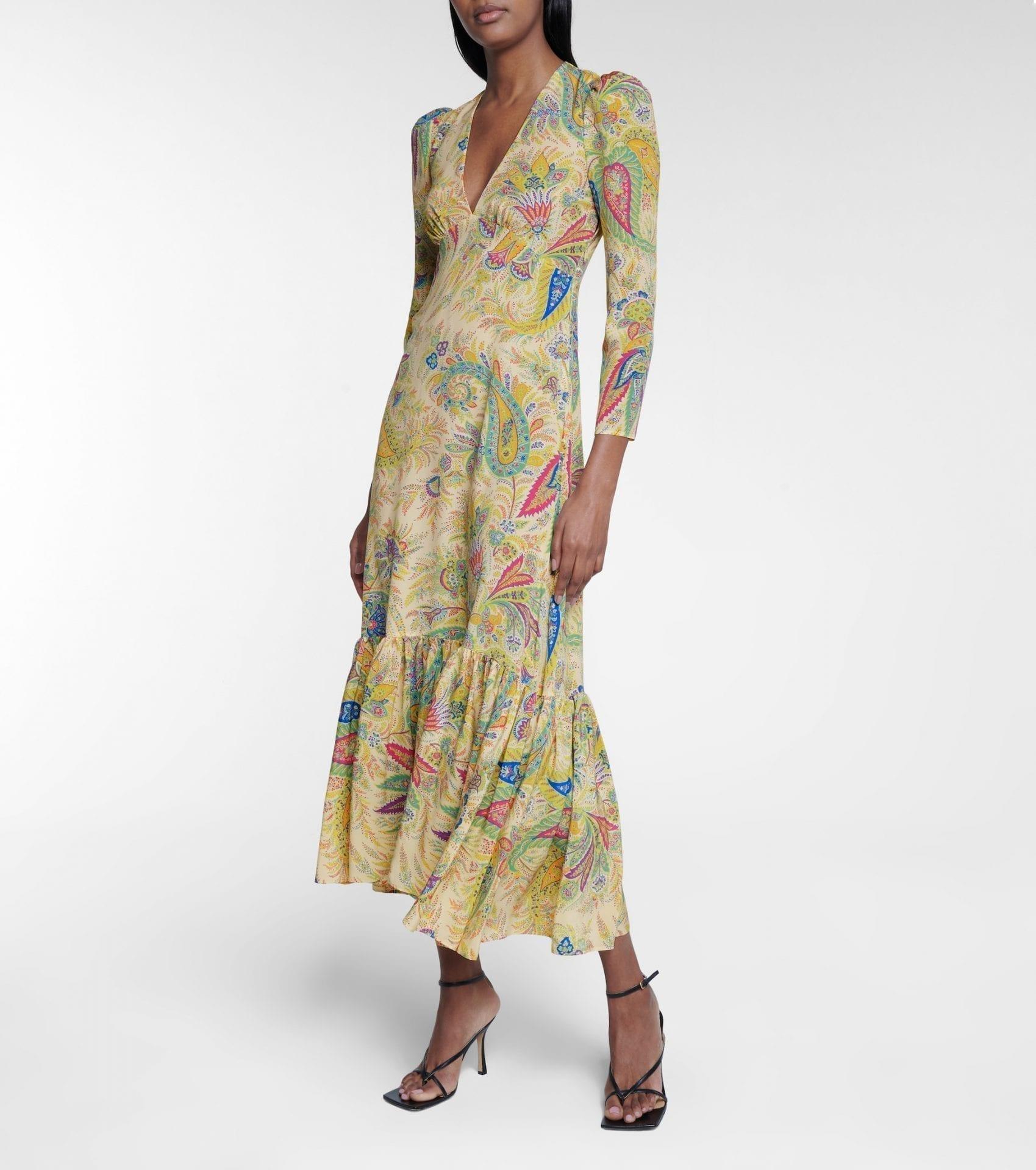 ETRO Paisley Silk Maxi Dress