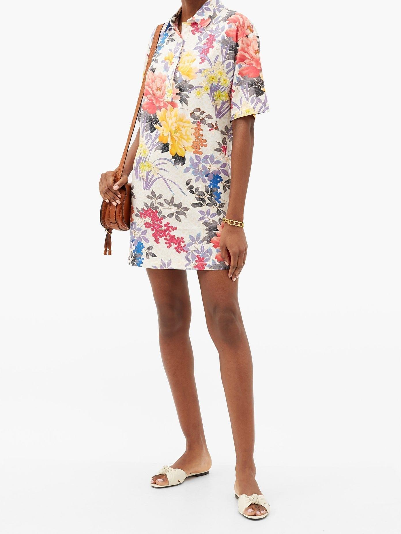 ETRO Rodi Floral-print Cotton-jersey Dress