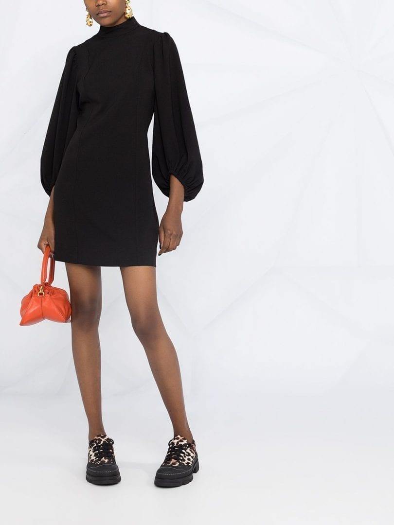 GANNI Turtleneck Short Dress