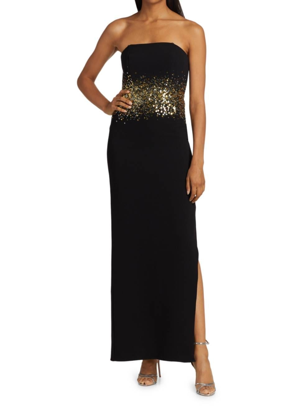 HALSTON Sofi Sequin-Waist Gown